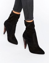 Missguided Tortoise Pointed Heeled Ankle Boots