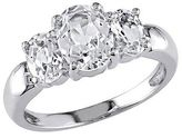 3 1/2 CT. T.W. Simulated White Sapphire 3 Stone Ring in Sterling Silver