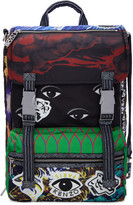 Kenzo Nylon Multi Print Backpack