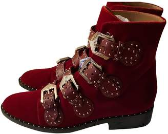 Givenchy \N Red Velvet Boots