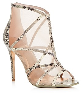 Ted Baker Women's Taminaa Snake-Embossed Caged High-Heel Sandals