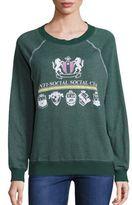 Wildfox Couture Anti Social Club Jewelneck Sweatshirt