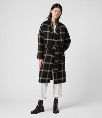 AllSaints Lara Check Coat
