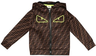 Fendi Kids FF neoprene hoodie