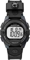 Timex Unisex Quartz Watch with LCD Dial Digital Display and Black Resin Strap TW4B07700