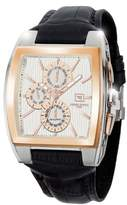 Jorg Gray Men's Quartz Watch with White Dial Chronograph Display and Brown Leather Strap JG6300-38