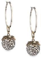 Alexander McQueen Crystal Sphere Hoop Earrings/1