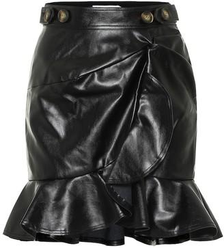 Self-Portrait Faux-leather miniskirt