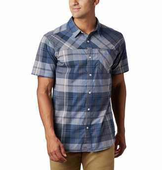 Columbia Men's Thompson Hill Yarn Dyed Short Sleeve Shirt Cotton Blend Comfort Stretch