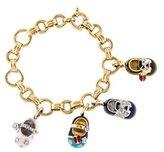 Aaron Basha 18K Diamond Shoe Charms Bracelet