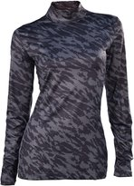 Nike Women's Pro Fitted Long Sleeve Mock Golf Top-XS