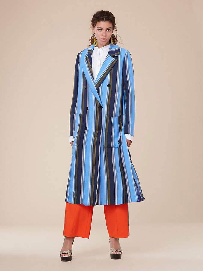 Diane von Furstenberg Long-Sleeve Floor-Length Jacket