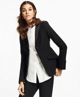Brooks Brothers Petite Stretch-Wool Crepe Tuxedo Jacket