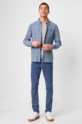 French Connenction Bleached Indigo Check Shirt