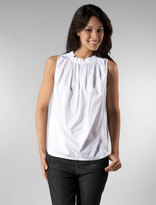 Paper Bag Blouse in White