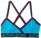 Bjorn Borg Crossback Top Solid Shiny Jersey Girl's Swimsuit