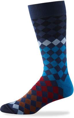 Bugatchi Men's Checked Dress Socks