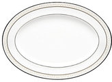 Noritake Montvale Scroll Platinum Bone China Oval Platter