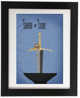 Sword and Stone Art Print