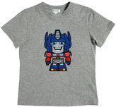 Au Jour Le Jour Transformers Patch Cotton Jersey T-Shirt