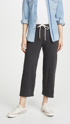 The Great The Wide Leg Cropped Sweatpants