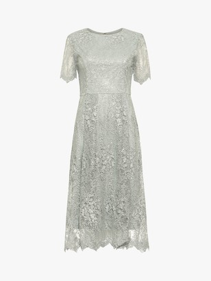 Phase Eight Malia Sequin Lace Dress, Petal
