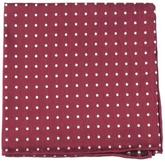 Proenza Schouler The Tie BarThe Tie Bar Burgundy Dotted Dots Pocket Square