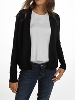 White + Warren Cashmere Slim Rib Trim Cardigan