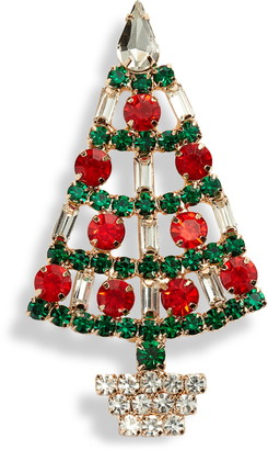 CRISTABELLE Fancy Christmas Tree Pin