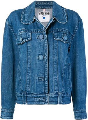 Moschino Pre Owned Round-Collar Denim Jacket
