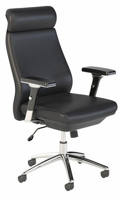 Kathy Ireland Office By Bush Atria High Back Leather Executive Chair Office by Bush