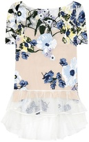 Erdem Noelle Embroidered Silk-organza Top