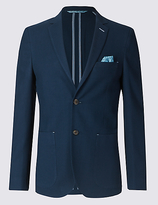 Limited Edition Navy Pure Cotton Modern Slim Jacket