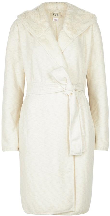 UGG Portola Cream Reversible Jersey Robe