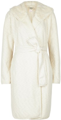 UGG Portola Cream Reversible Jersey Robe