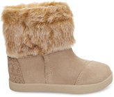 Toms Oxford Tan Suede Faux Fur Tiny Nepal Boots