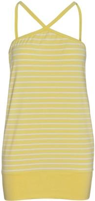 Conquista Strappy Striped Mini Dress In Yellow