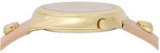 Versace Blush and Gold Detail Dial Blush Leather Strap Ladies Watch