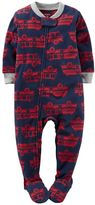 Carter's Baby Boy Print Fleece Footed Pajamas
