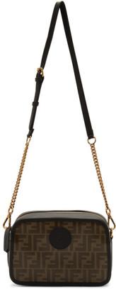 Fendi Brown and Black Forever Camera Case Bag