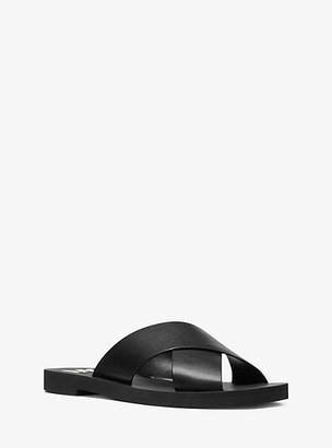 Michael Kors Glenda Leather Slide Sandal