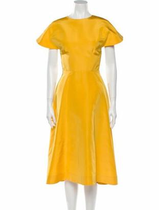 Rosie Assoulin Silk Long Dress Yellow