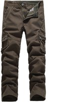 SSLR Men's Casual Multi-Pocket Long Cargo Pants