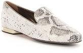 Donald J Pliner Hazel Glitter Python Print Leather Loafers