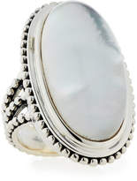 Stephen Dweck Crystal Quartz & Mother-of-Pearl Oval Ring