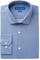 Vince Camuto Men's Slim-Fit Blue Diamond Dobby Dress Shirt
