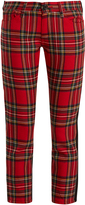 Junya Watanabe Tartan-checked slim-leg wool trousers