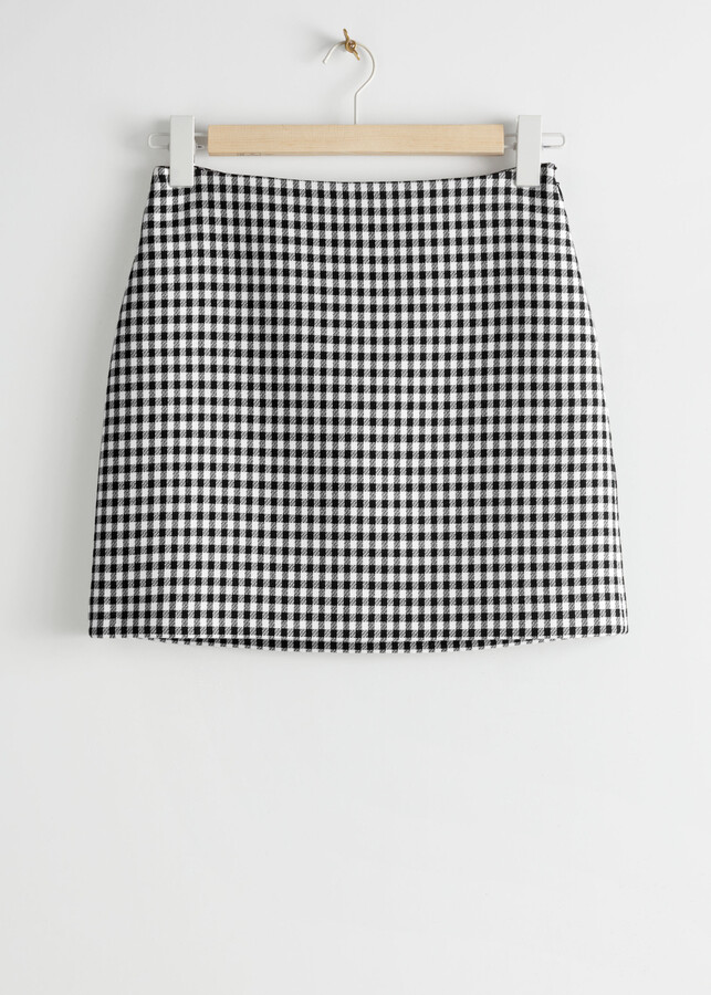 Thumbnail for your product : And other stories Gingham Mini Skirt