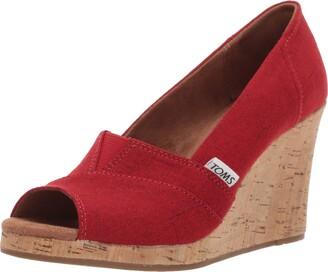 Toms Women's Classic Espadrille Wedge Sandal