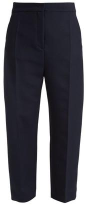 Joseph Haim Wool-blend Twill Trousers - Womens - Navy